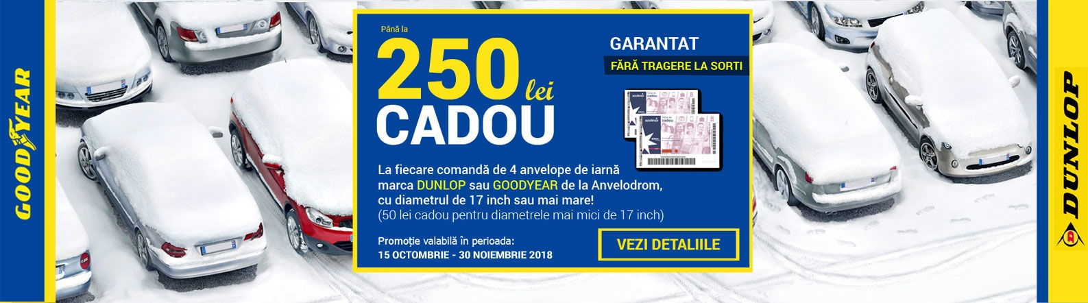 Promotie anvelope iarna Goodyear Dunlop
